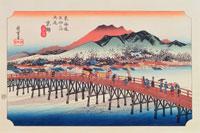東海道五拾三次 55京 25166000859| 写真素材・ストックフォト・画像・イラスト素材|アマナイメージズ