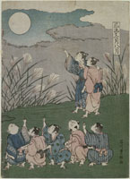 浮世絵 子供風流十二ケ月八月 石川豊雅