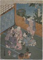 浮世絵 子供風流十二ケ月正月 石川豊雅