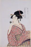 浮世絵版画 喜多川歌麿 美人図