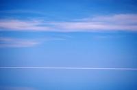 ウユニ塩湖、白い地平線