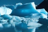 パタゴニアのグレイ湖の氷