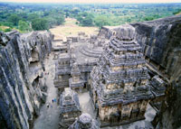 カイラーサナータ寺院 エローラ 25198004044| 写真素材・ストックフォト・画像・イラスト素材|アマナイメージズ