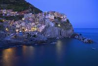 夜景 海と街並み