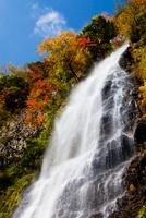 秋の天滝 25222014032  写真素材・ストックフォト・画像・イラスト素材 アマナイメージズ