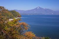 猪苗代湖と磐梯山 25222015181  写真素材・ストックフォト・画像・イラスト素材 アマナイメージズ