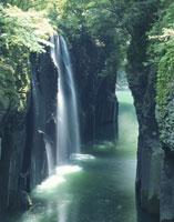 夏の高千穂峡と真名井の滝