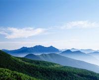 乗鞍岳より望む穂高連山と槍ヶ岳