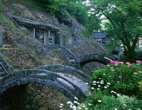 三基の石橋と五百羅漢 羅漢寺