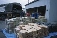 救援物資 中越地震 25234013252| 写真素材・ストックフォト・画像・イラスト素材|アマナイメージズ