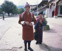 民族衣装の人