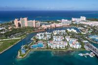 上空よりナッソー(バハマ)のリゾートエリアの風景 25295002304| 写真素材・ストックフォト・画像・イラスト素材|アマナイメージズ