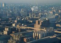 化学工業の工場地帯