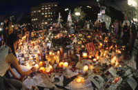 WTCテロの慰霊の灯