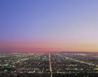 ダウンタウンの夕景