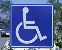 身障者用の看板