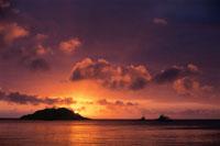 リザード島の夕焼け