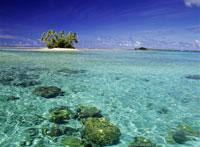 マジュロ環礁の小さな島