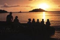 リザード島に沈む夕日 25356001264| 写真素材・ストックフォト・画像・イラスト素材|アマナイメージズ