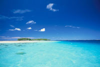 マジュロ環礁の美しいラグーン  マーシャル諸島共和国