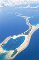 アルノ環礁空撮 マーシャル諸島共和国