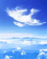 甲斐駒ケ岳方向の山並 乗鞍岳より望む