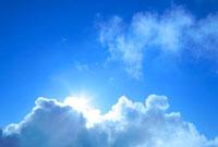 太陽と雲 富士山