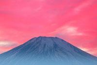 富士山と夕焼け パノラマ台 25372024672| 写真素材・ストックフォト・画像・イラスト素材|アマナイメージズ