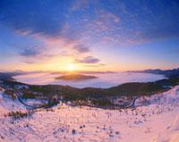 屈斜路湖の朝景