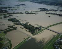 小貝川洪水現場