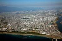 平塚海岸より望む平塚市街地 25397004390  写真素材・ストックフォト・画像・イラスト素材 アマナイメージズ