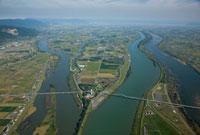 輪中 揖斐川と長良川 25397005841| 写真素材・ストックフォト・画像・イラスト素材|アマナイメージズ