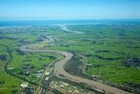 阿賀野川と早出川の合流地点より阿賀野川河口