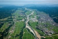 十日町平野(十日町市付近)信濃川の河岸段丘
