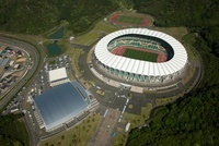 静岡アリーナとエコパスタジアム