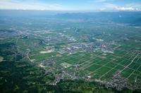 山形盆地(中山町、寒河江付近) 空撮