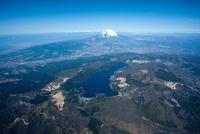箱根芦ノ湖より富士山周辺 空撮