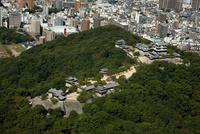 松山城 空撮