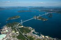 しまなみ海道,西瀬戸自動車道,来島海峡第二大橋,大島方向 空撮