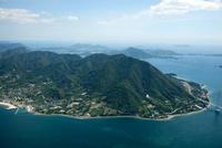 生口島((瀬戸田地区と観音山周辺) 空撮