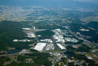 勝央中核工業団地と中国自動車道(勝央S)周辺