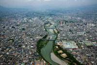 利根川(平成大橋周辺より群馬県庁方面)