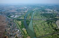 荒川と入間川の分岐点周辺(上江橋付近)