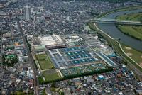 金町浄水場と江戸川
