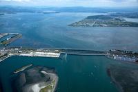 浜名湖(西浜大橋と浜名港)