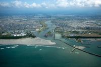 遠州灘より太田川河口