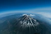富士山(3,800m)  魚眼レンズ