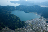 余呉湖と琵琶湖