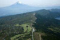 芦ノ湖スカイラインより富士山