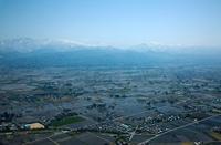 富山平野より北アルプス方面(舟橋村付近)